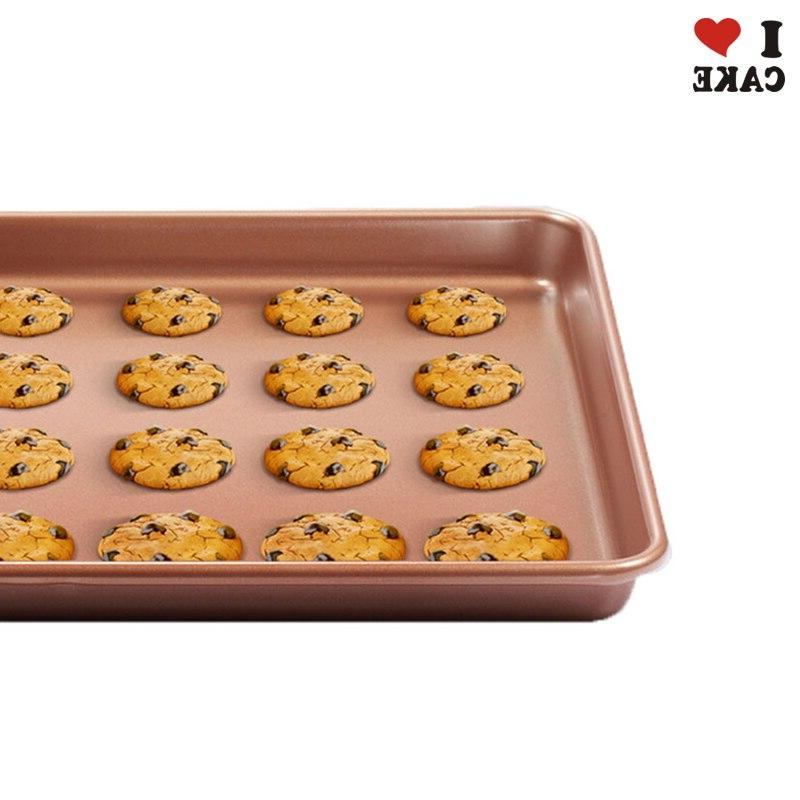 Non-Stick Cookie Tray <font><b>inch</b></font> Baking pan ,cookie ,roasted 1pcs Rack tools