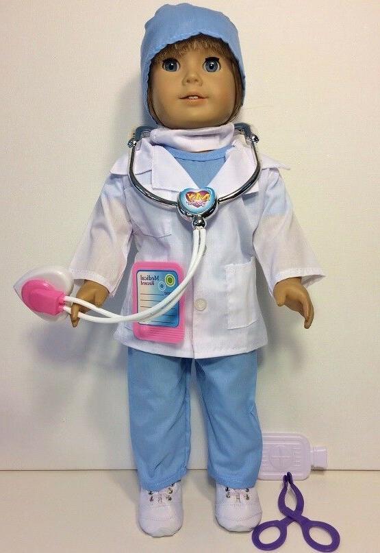 NURSE, SCRUBS, American Girl Doll, Inch Doll Clothes 8 Piece Set