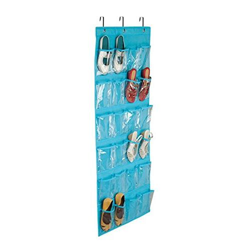 Aolvo Over The Shoe Organizer, Shoe Caddy Front - Clear Hooks