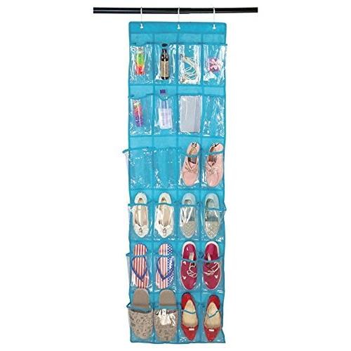 Aolvo Over The Door Organizer Front Shoe - & Customized Metal Hooks