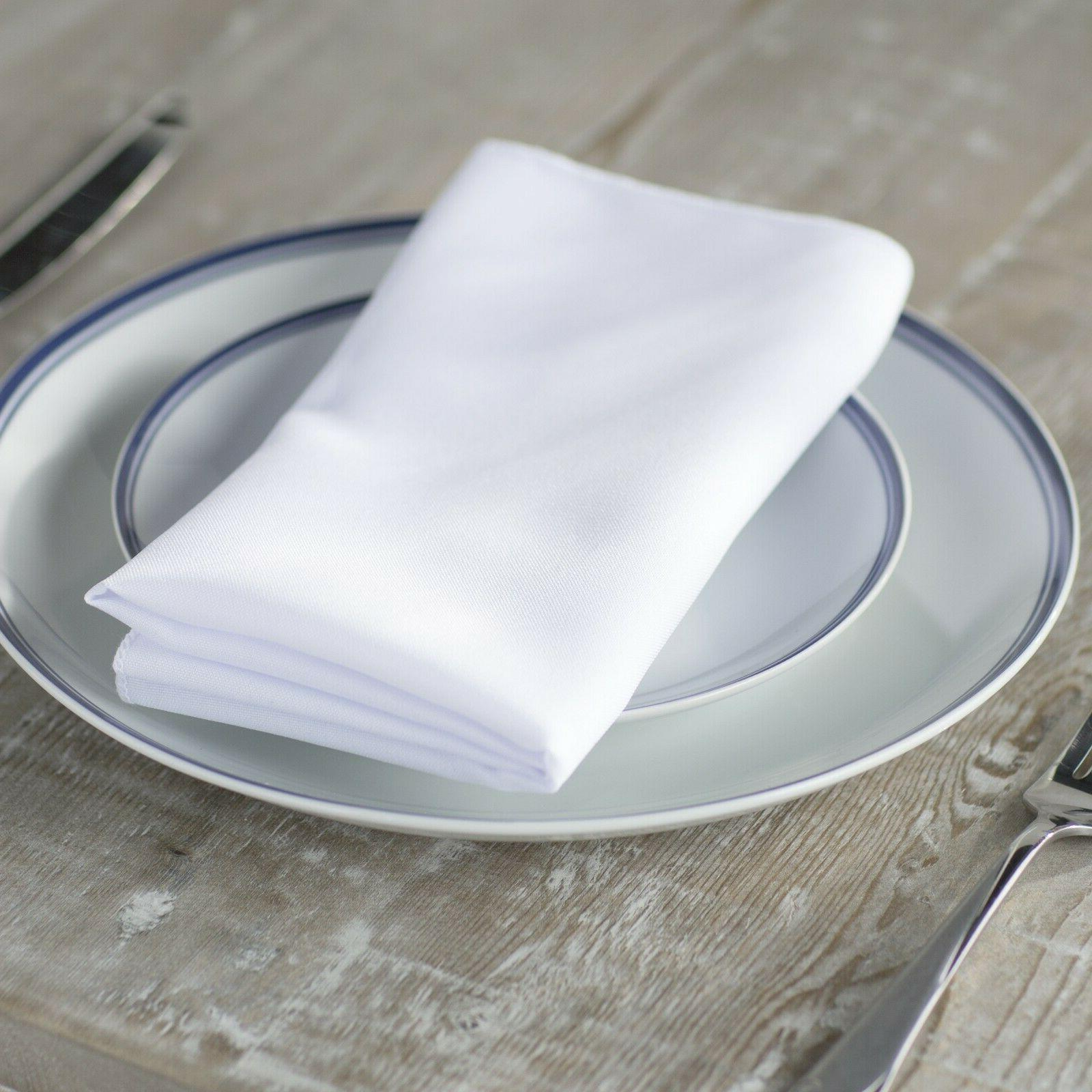 LA Linen Pack-10 Polyester Poplin Napkin 18 by 18-Inch. Made