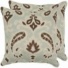 Safavieh Paisley 18-inch Light Grey/ Brown Decorative Pillow