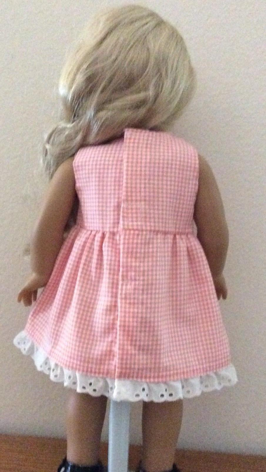 Pink Checkered Dress Eyelet 18 Inch American SHIPPING!!