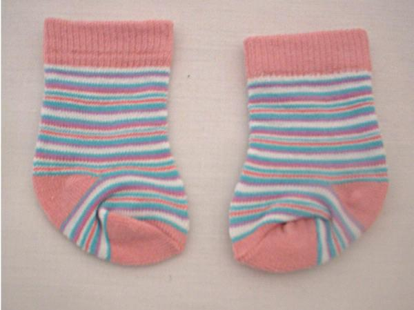 Pink Striped Socks Fits 18 inch American Girl Dolls