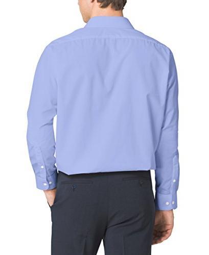 "Van Men's Regular Fit Collar Shirt, Blue, 34""-35"" Sleeve"