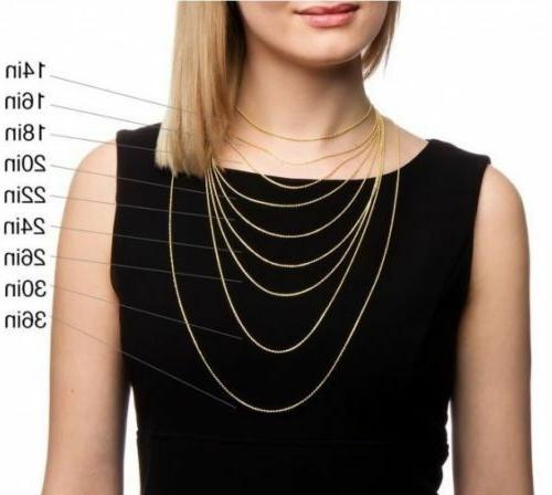 """10K Solid Necklace Rope 2.5mm 16"""" 20"""" 22"""""""