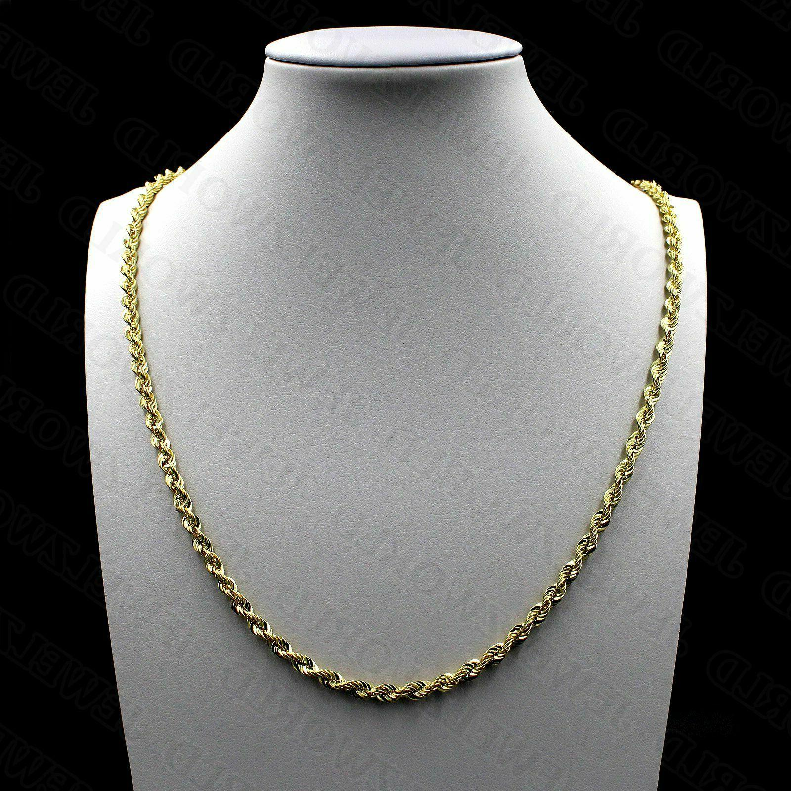 10k solid yellow gold necklace gold rope