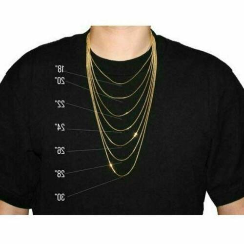 Real Gold 2mm Diamond Cut Rope Chain Necklace 18''