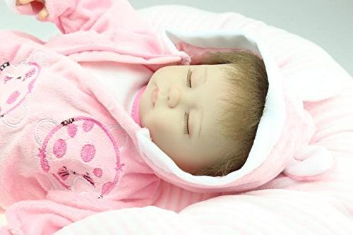 "NPK 18"" Reborn Dolls Girl Partners Pink Little Princess"