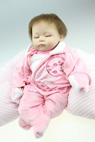 "NPK 18"" Reborn Dolls Girl Playmate Partners Pink Little"
