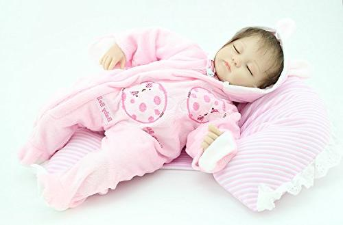 "NPK 18"" Reborn Dolls Pink Sleep Little"