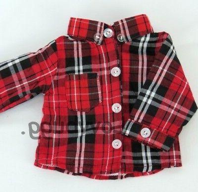 red black plaid shirt for 18 inch