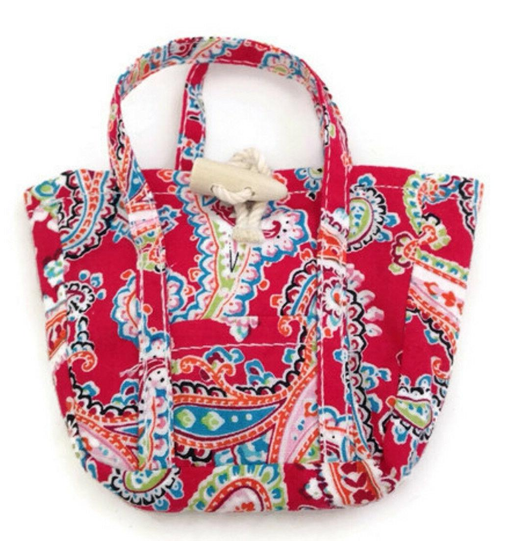 red paisley purse tote made for 18