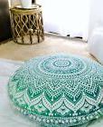 Round Mandala Floor Cushion Cover Meditation Pillows Ottoman
