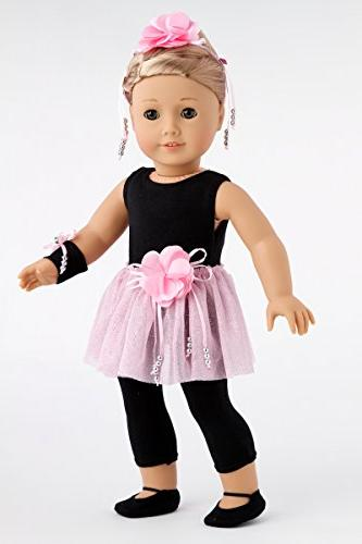 DreamWorld Collections Time - Piece Pink Slippers, Corsage, Hairpiece Clothes 18 American Girl