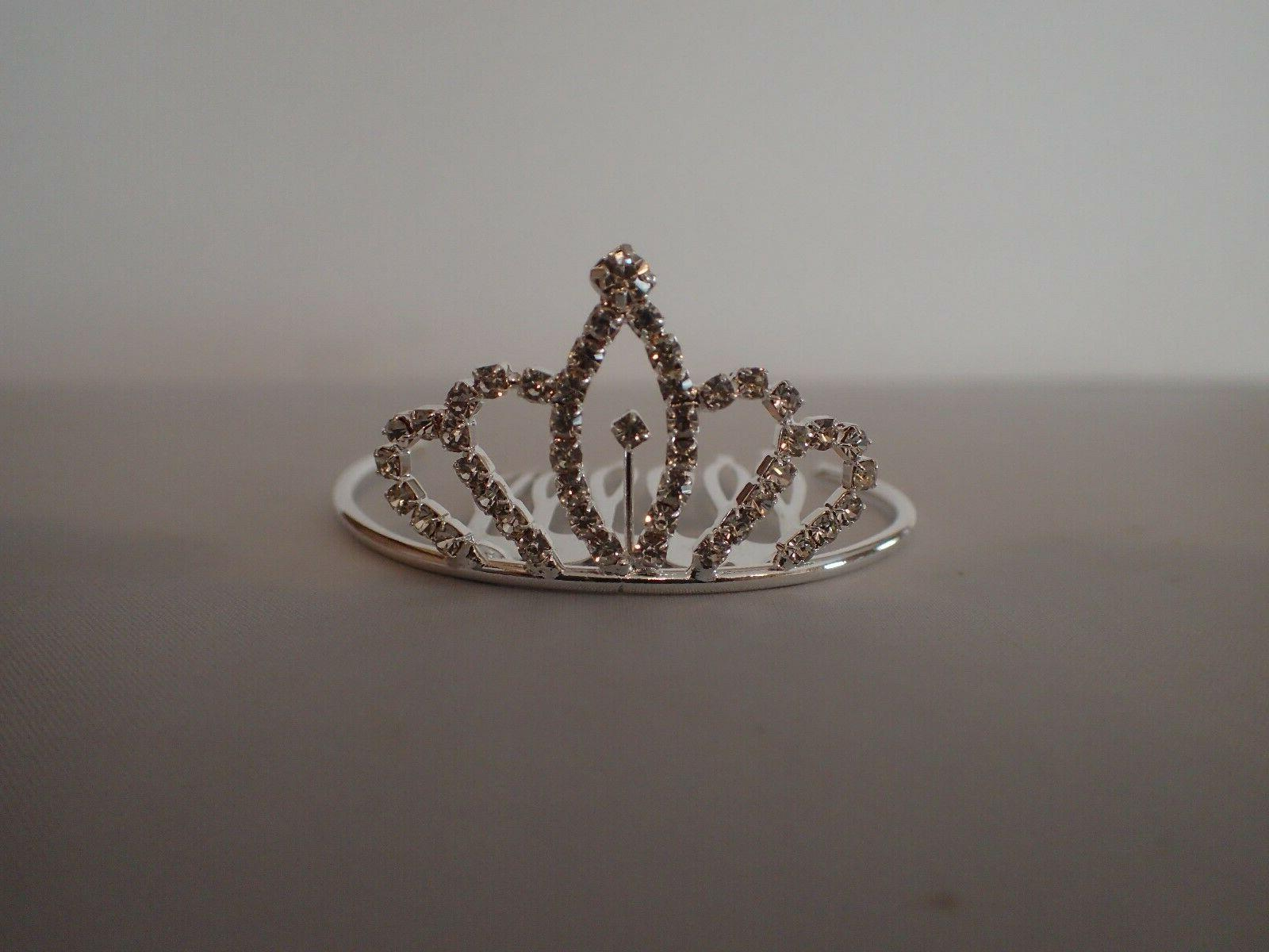 small rhinestone tiara fits 18 inch american