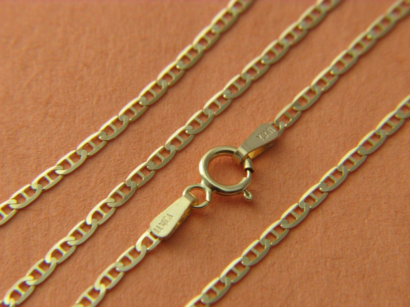 solid 10k yellow gold box cable wheat