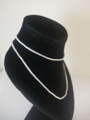 Sterling silver 1.4 box chain 18inch, USA seller,