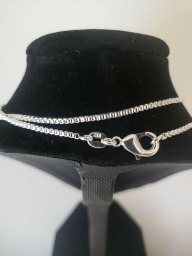 Sterling silver 1.4 box chain 18inch, USA seller, free