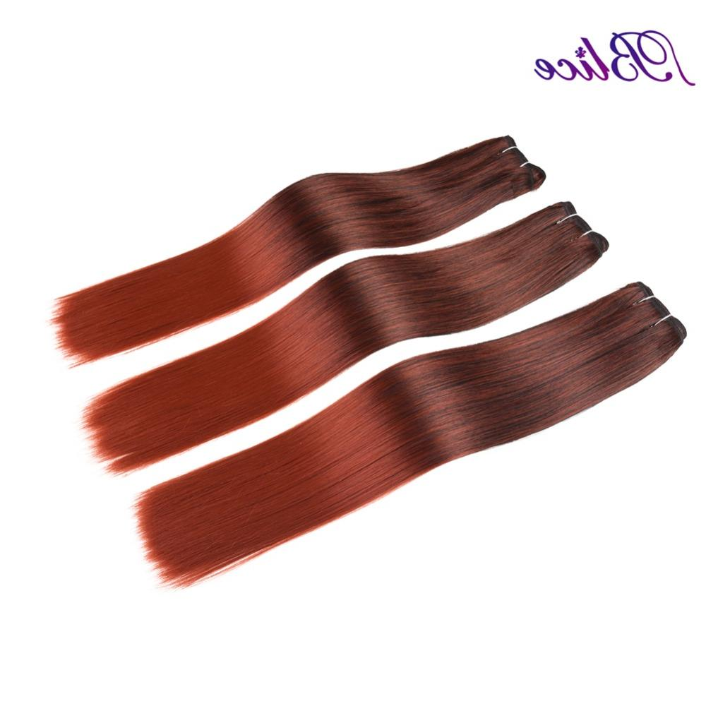 Blice Synthetic Hair <font><b>18</b></font> <font><b>Inches</b></font> Yaki Weft Extensions