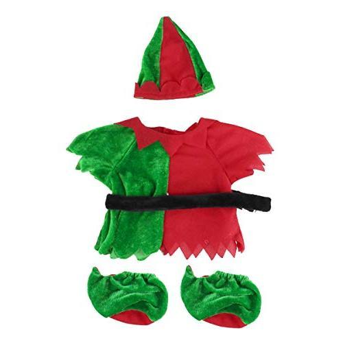 Freebily Christmas Festive Fits 14-18 Inches Animals Green &