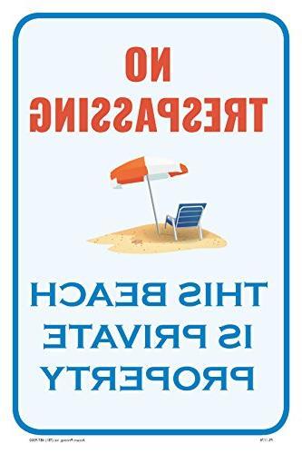 trespassing beach property security warning