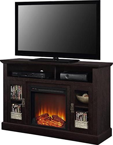 Tv For Screens Electric Fireplace Console Center Inch