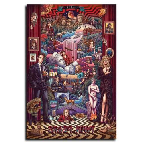Twin Peaks 12x18inch TV Shows Silk Poster Hot Room Door Wall