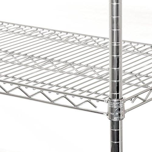 Seville UltraZinc NSF Wire Rack with Wheels, 60""