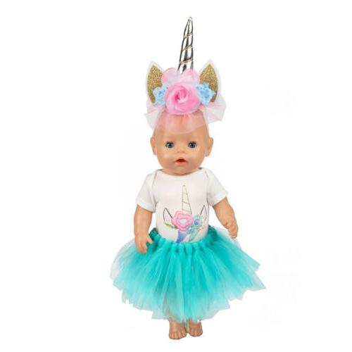 Unicorn Clothes Blue Dress America 18 Girl