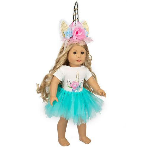 Unicorn Doll Dress America 18 Girl Accs