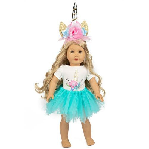 Unicorn Clothes Dress America 16- Girl