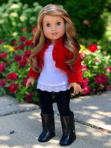 Uptown Girl - piece outfit - ruffled top, leggings and boots inch Doll
