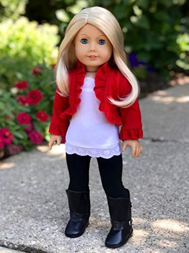 Uptown Girl - piece - ruffled tank top, black boots - Doll