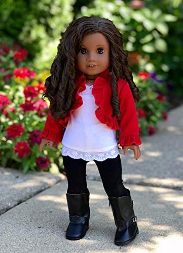 Uptown - piece ruffled top, black and boots - Doll