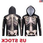 US 3D Print Men Halloween Hoodie Sweatshirt Pullover Jumper