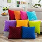 US Soft Plush Square Pillow Case Sofa Waist Throw Cushion Co