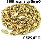 "USA 18K Gold plated Rope Chain Necklace 16"" to 30"", & 2,3.4,"