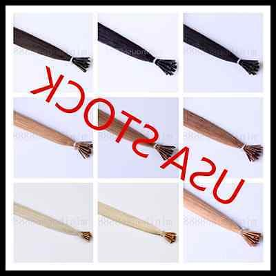 USA STOCK!18 inch Remy Stick Tip Human Hair Extensions 50g 3