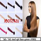 USA stock! 18 inch Remy Nail Tip Human Hair Extensions 50g,