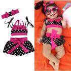 USA Toddler Baby Girl Tankini Bikini Swimwear Swimsuit Bathi