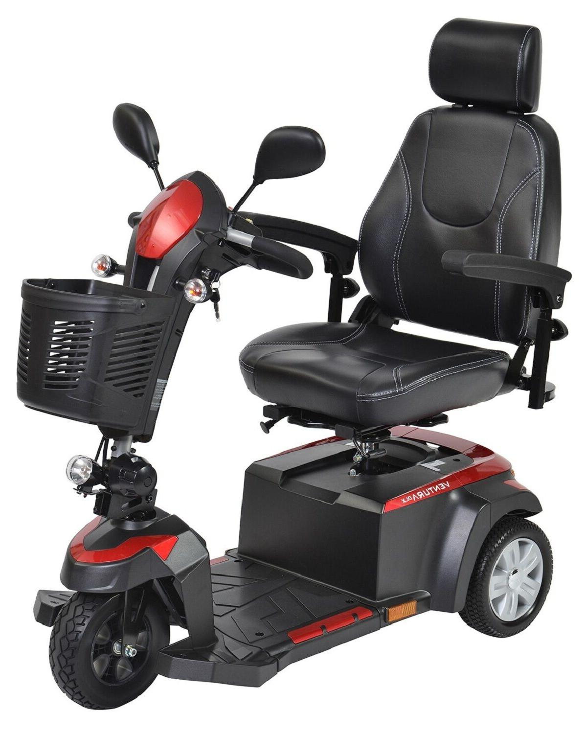 Drive Medical Ventura DLX 3 Wheel Electric Power Mobility Sc