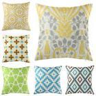 Vintage Geometric Flower Cotton Linen Throw Pillow Case Cush