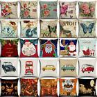 Vintage Retro Cotton Linen Waist Throw Pillow Case Cushion C