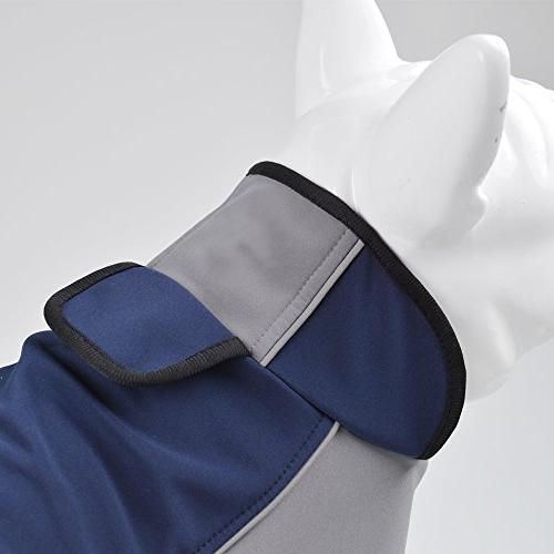 Fosinz Jacket Dog Coat Reflective Stripe