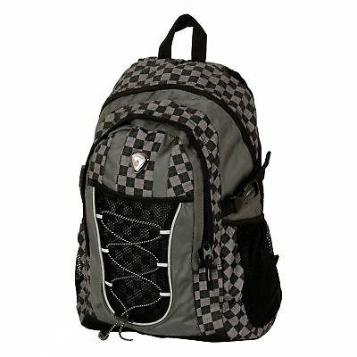 westside black checkered 18 inch deluxe backpack