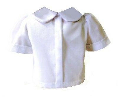 White Blouse for 18 inch Doll Clothes American Girl Widest V