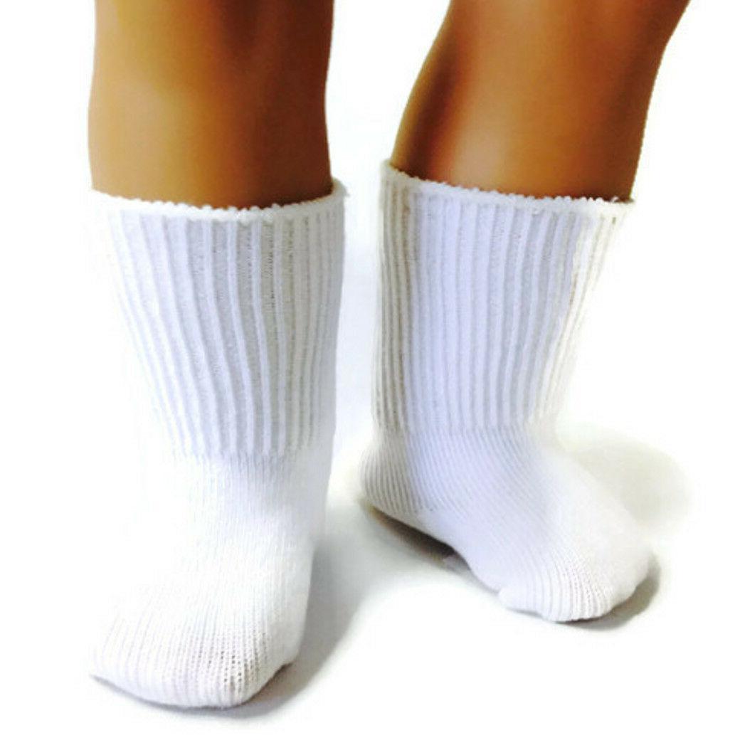 white knit sport socks made for 18