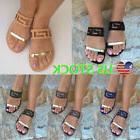 Women Casual Flat Slides Sandals Comfy Flip Flop Toe Post Sl