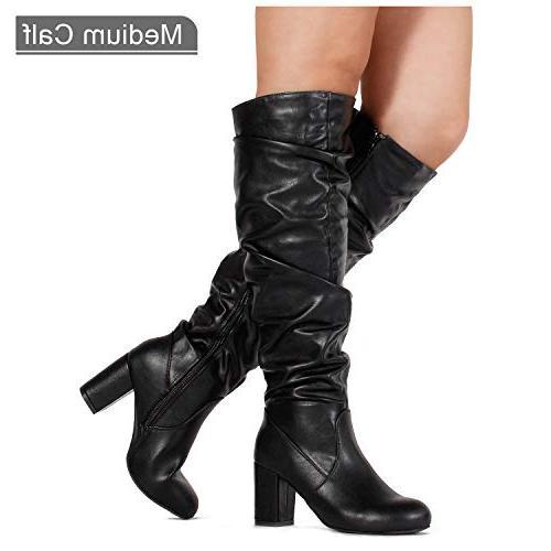 women s trending chunky high heel slouchy